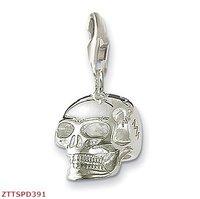Free Shipping wholesale silver skull   charm pendant   ,925 silver charm pendants,925 sterling silver jewelry,fashion pendants