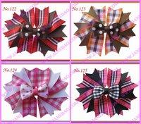 """Free shipping 65pcs 4.5"""" fashion Girls  Novel A-Swallowtail hair bows girl boutique hair Clips"""