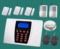 Complete Alarm Systems   Alarm panel +PIR +Door contact +smoke sensor   Home security systems   burglar & fire alarm wholesale