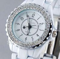 NEW ARRIVAL !!! Luxury Carve Some shine Zircon jewelry  Ceramic band women Wrist Watch LOVER DECENT GIFT SZB6