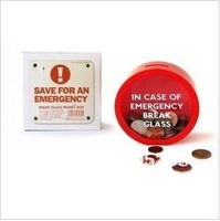 SUCK UK In Case Of Emergency Break Glass Money Box 5 pcs/lot Free shipping