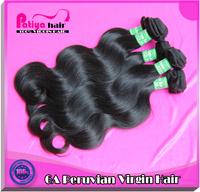 Virgin peruvian hair 100% human hair natural color 100g/pcs 2pcs/lot free shipping Peruvian body wave hair