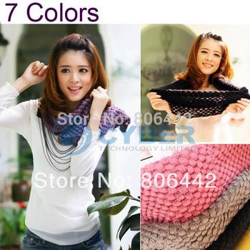 New Fashion Women's Corn kernels Shawl Knitted Wool Neck Cowl Wrap Scarf  Warmer Circle