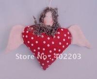 christmas ornament-christmas decorations-christmas angel hanger-3designs asst-cotton fabrics-12pcs/lot-free shipment