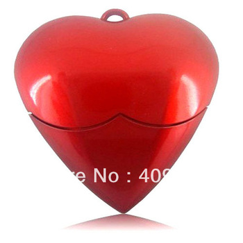 retail genuine 2G/4G/8G/16G/32G red heart flash drive plastic necklace pen drive usb flash drive Free shipping+Drop shipping