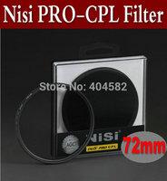 Free shipping 72mm NISI ultrathin PRO 1D(W)Circular Polarizing CPL Camera Lens Filter