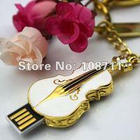Free Shipping 1GB/2GB/4GB/8GB/16GB Unique Shape Crystal Violin USB 2.0 Flash Memory Drive