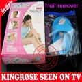 wholesale 120sets/lot mini body electric hair remover no pain f with smoothing vibration pad battery power as seen on tv