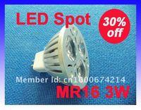 Hot sell!MR16 3*1W LED SpotLight DC12V LED Ceiling Light