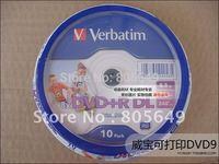 Wholesale Verbatim Printable DVD discs 8X DVD+R DL, 10pcs 8.5G