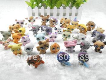 Lot 10 pcs magnet Littlest Pet Shop LPS Animasl Loose Figures toy  free shipping (pieces/lot)
