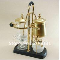 4C Belgium Royal Balancing Coffee Maker ,ROYAL BELGIUM COFFEE MAKER ,Golden Vacuum Syphon Coffee Maker ,Perfect quality