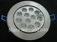 High quality, 12*1W, 12 Watts, 10 pcs/lot , cool white/pure white/warm white,high power LED downlight