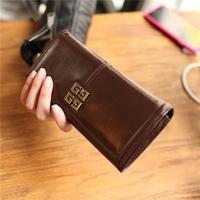 Multi-function women's wallet fashion cowskin wallet Free shipping 1101
