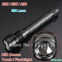 Super bright! New 85W 7800mAh 8500Lumen HID Xenon Torch/ handheld Flashlight