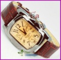 Retail Exclusive Dial Multicolor Leather Womens Wrist Watch Free shipping