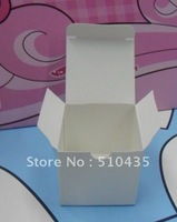 FREE SHIPPING! WHITE COLOR 5*5*5chocolate box/wedding favor box,candy box