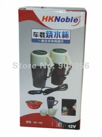 2012 hot Car 12V stainless steel kettle boil cup warm cup of hot water 100 degrees HK-100 car pot / water heater fast shipping