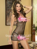 Sexy Hot One-piece fishnet lingerie black mesh hose