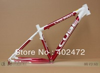 CUBE LTD PRO ultra-light Aluminum alloy Mountain bike frame/bicycle frame/mtb bike frame 16/18 inch 1500g Red with white color