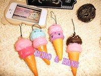New Cute sweet Ice cream squishy charm/ mobile phone pendant strap / Wholesale