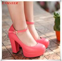 enmayer 2014 New Hot sale women pumps high heels shoe platform shoes for women shoe