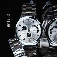 Men's Silver Stainless Steel Band White/Black Round Dial Analog Quartz Watches,Quartz Analog Watches,Men Wristwatch,Holiday Gift