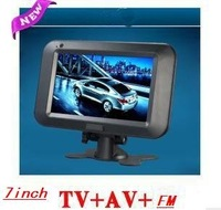 free shipping LCD color Analog car 7 inch lcd  TV