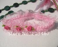 Pink  Baby Headband with rose 12pcs/lot  wholesale price princess headband nice design