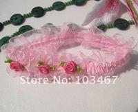 Pink  Baby Headband with rose wholesale price princess headband nice design