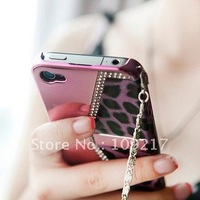 For iPhone 4 G Leopard grain design case, Mobile phone case for iPhone 4 New Arrival !