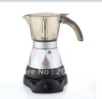 Automatic Electric stovetop espresso coffee maker.moka coffee maker/mocha coffee maker,3CUPS capacity,Mocha coffee