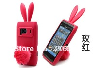 Free shipping! For Nokia N8 N8-00 case Rabbit soft silicone Case Lovely cartoon case, good quality 1pcs/lot