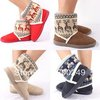 Free Shipping Short Plush Snow Boots ladies boots Shoes For Women Winter Thicken Artificial  L12409SL