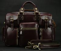 Luxury vintage Genuine leather men travel bags big luggage & bags duffle bags Men leather travel bags shoulder Large tote M038