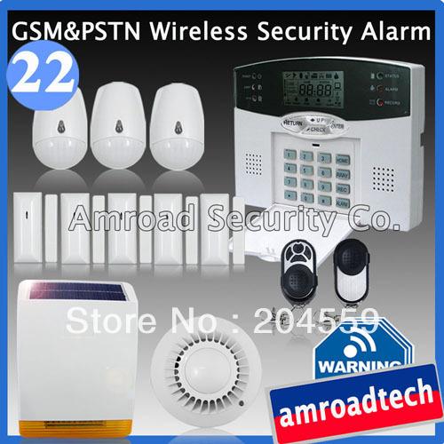1 Set 40 Zones DIY PSTN Telephone line Wireless Home Security Burglar Alarm System w Solar Powered Siren iHome328M22, by DHL/EMS(China (Mainland))