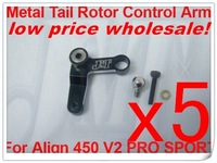 F01459-5  Metal Tail Rotor Control Arm Set For ALIGN TREX TREX 450 SE V2 PRO SRORT Rc Helicopter HS1295  + Free shipping