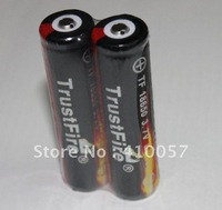High Capacity.Protection board,Genuine TrustFire 3.7V 18650 Li-ion Rechargeable  Battery  free shipping