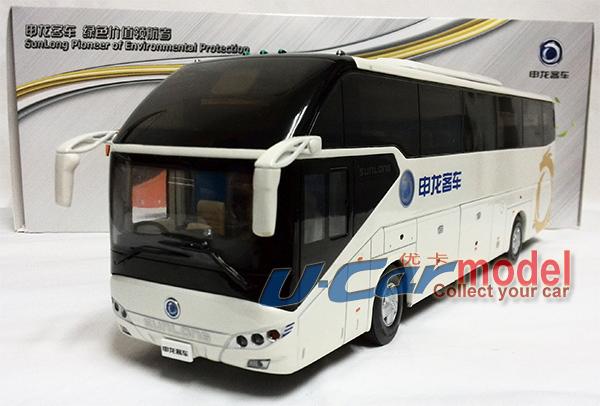 Sunlong slk6120 pullman die- cast auto modello(bianco) nuovo arrivo