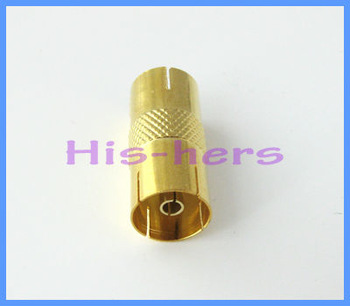 Free shipping PAL Female TO F Male coax cable CCTV TV adapters Male to PAL Female Connector Adapter F-Type Imperial goldplated