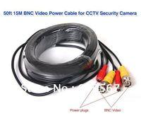 New 50FT 5M/10m/20m/25m/30m/40m/50/m/100m /15M BNC Video Power Cable for CCTV DVR Security Camera Kit
