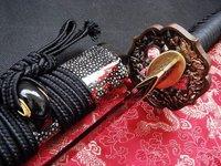 Clay tempered japanese katana dragon tsuba sword battle ready sharpend sword