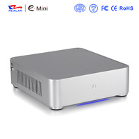 silver mini itx computer pc case E-Q6i