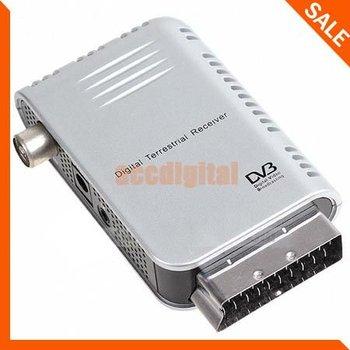 Wholesale Free Shipping Scart Digital TV DVB-T HDTV Terrestrial Tuner Receiver