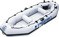 free DHL shipping JiLong Navigator I 4 persons fishing boat, inflatable fishing boat, air boat with pump & paddle & air cushion