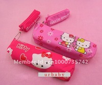New 2 in 1 Hellokitty hello kitty cosmetic coin bag pouch Pencil Case Box retail wholesale
