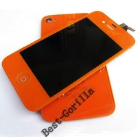 New LCD & Digitizer Touch Full Set Assembly + Back Housing for iPhone 4 4G Orange