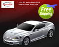 Free shipping rastar 1:24 Aston Matin DBS 1/24 20cm rc car 40200