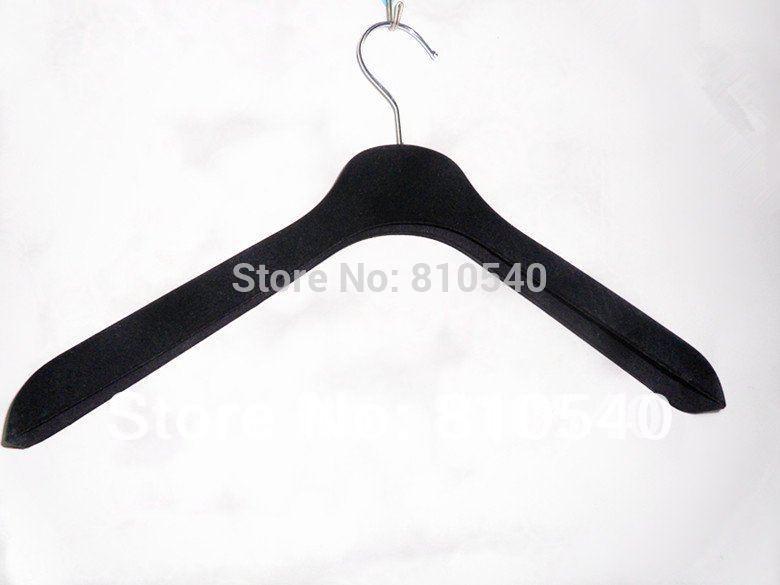 ABS plastic velvet flocked anti-slip suit hanger(China (Mainland))