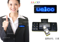 Free Shipping,5pcs/lot,Three year warranty LED Scrolling Name Badge,Tag,Message Sign,Display EU langerages 7*29 Blue
